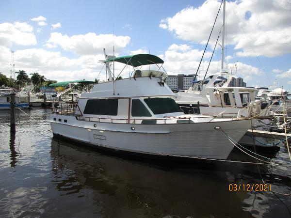 1987 island gypsy 44 flush aft deck