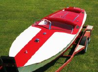 1949 Chris-Craft Red & White Racing Runabout