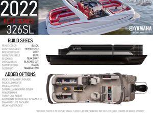 2022 SunCatcher ELITE 326SL W/ YAMAHA F300 OUTBOARD
