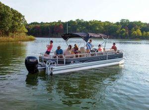 2022 Sun Tracker Fishin' Barge 24 DLX