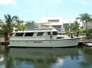 1987 Hatteras Flush Deck Flybridge Motor Yacht