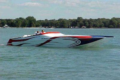 2005 Ocean Express 38 Super Cat Poker Run