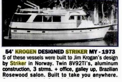 1973 Striker Trawler