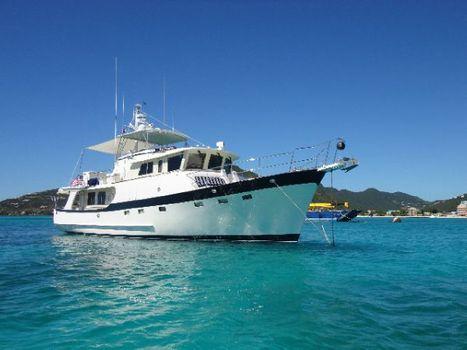 2007 Krogen 58 On Anchor In St. Maarten