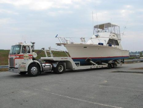 1973 Egg Harbor 38 Sport Fish Port Bow