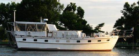 1981 Island Trader Motor Sailer/Trawler Morada Outboard Profile