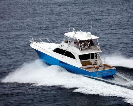 2002 Viking 61 Convertible Port Side
