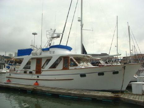 1980 De Fever 48 Trawler 48' DeFever starboard forward profile