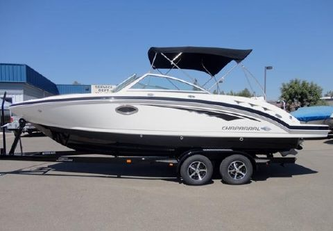 2014 Chaparral 244 Black Sunesta Deckboat