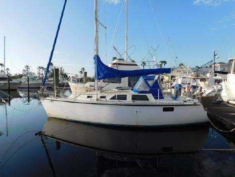 1989 Hunter Sloop Cruising Sailboat Port Profile