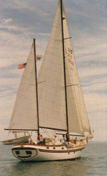 1982 Bluewater / Vagabond Voyager Starboard tack down wind