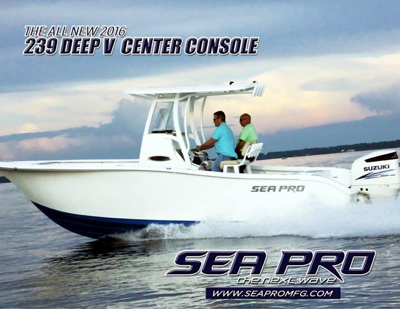 2016 Sea Pro 239 Deep V Center Console