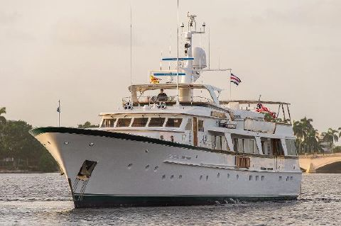 1982 Feadship Raised Pilothouse Motor Yacht Feadship YES bow on profile