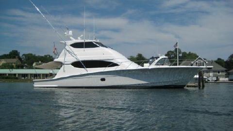 2007 Hatteras 68 Enclosed Bridge Profile Stbd View Aft