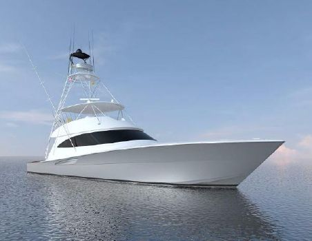 2018 Viking 72 Convertible Starboard Bow