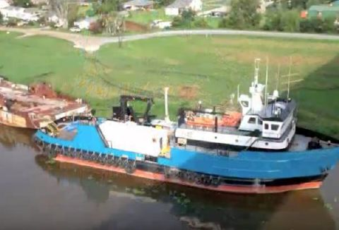 1970 Commercial Dive Support Vessel Full View