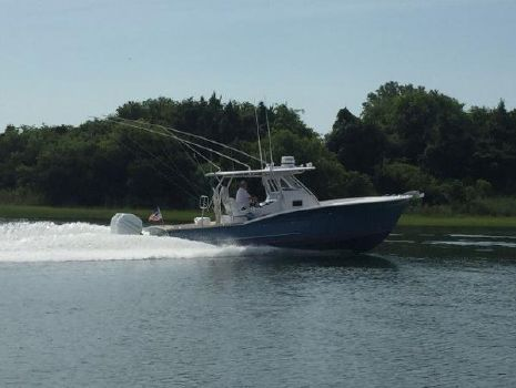 2015  OBX Custom 36 CENTER CONSOLE Reel Pleasure crusing the waterway