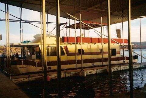 1985 Boatel Houseboats Flybridge Pontoon Houseboat