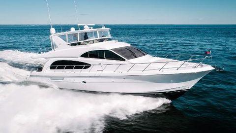 2006 Hatteras 64 Motor Yacht Stbd Profile Running