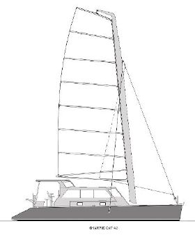 2014 Parker Sharpie Cat 42 Sail Plan