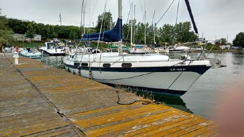 1972 Morgan Out Island 41 Sloop Starboard Bow