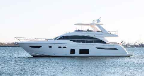 2017 Princess 68 Flybridge Motor Yacht Port Side