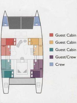 1999 Catamaran Cruisers Custom Commercial Term Charter Layout