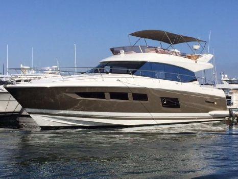 2015 Prestige 550 Fly Port Bow - Bimini Up