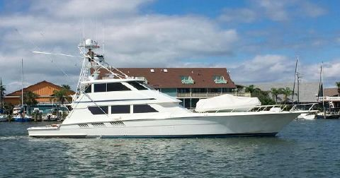1995 Hatteras 65 Enclosed Bridge