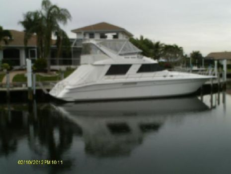 1995 Sea Ray 550 Sedan Bridge Over All View Stb.at Dock