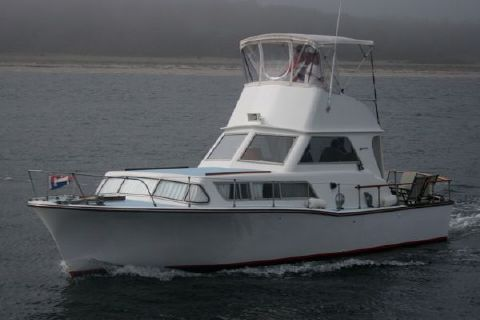 1961 Pearson Arendal, 2 Owner Indoor Stored Fiberglass Boat with LOW Hour Yanmar Diesels