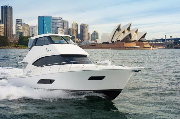 2018 Riviera ENCLOSED FLYBRIDGE- ORDER! Riviera Yachts 52 Flybridge Running in Sydney Harbor