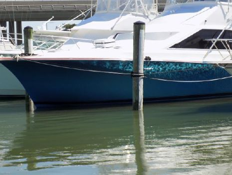 1996 Ocean Yachts--  Cummins powered 48 Super Sport Bow   w/ new blue metallic hull paint