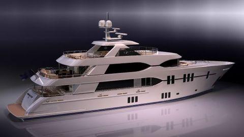 2017 Ocean Alexander Motor Yacht Aft view