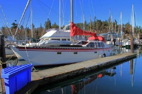 1981 Cooper 416 Pilothouse Sloop Profile