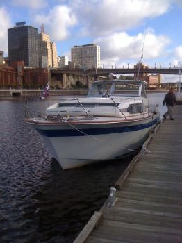1965 Chris-Craft 37 Roamer - recent survey Bow profile