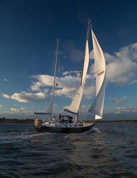 1984 Bristol 47.7 47' Bristol under sail with mizzen down