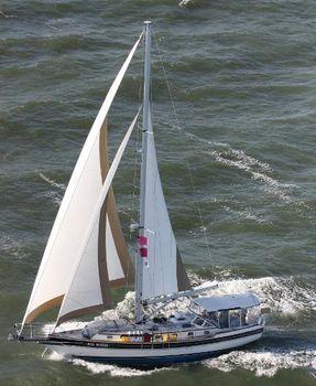 2007 Gozzard 44 Mk 2 Eva Marie in full sail