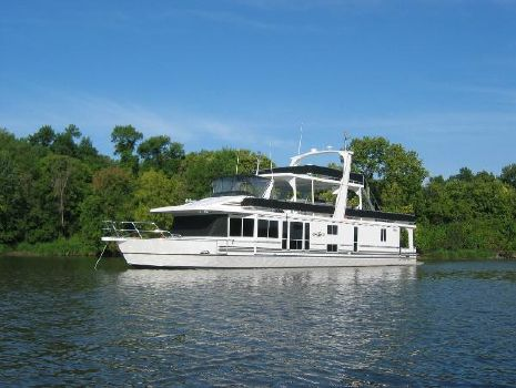 2003 Majestic 90X18 Tri Deck River Cruiser Port Bow