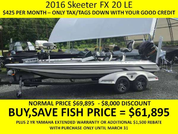 2016 Skeeter FX 20 Limited Edition