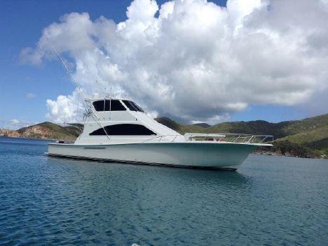 2002 Ocean Yachts 62 Enclosed Bridge Starboard View