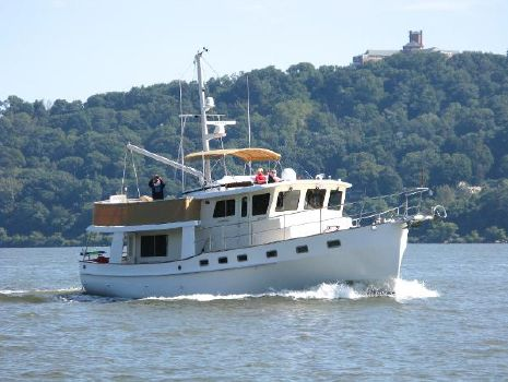2009 Kadey Krogen 48' North Sea Walkaround Bulldog Sally Cruising in NY