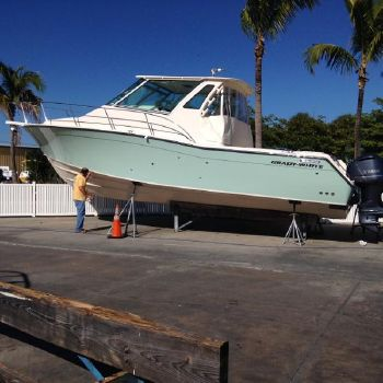 "2015 Grady-White 370 Express Custom ""Sea Glass Green"" Hull Color"