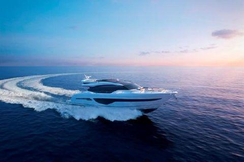 2019 Princess S78 Starboard Running Shot