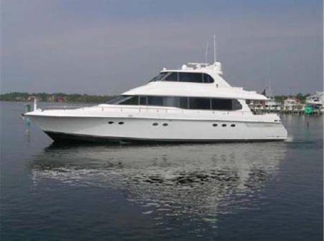 1997 Lazzara 76 Motor Yacht Sky Lounge Profile