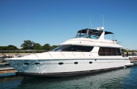 2002 Carver 570 Voyager Pilothouse Outside Port Side