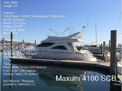 2000 Maxum 4100 SCB