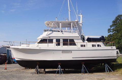 1994 Ocean Alexander 423 Classicco Port side bow.JPG
