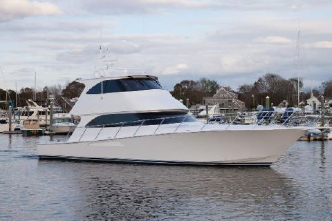2012 Viking 60 Convertible EB Starboard Side View