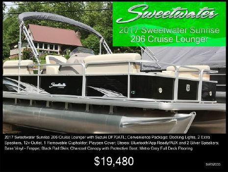 2017 Sweetwater Sunrise SWS 206 CL